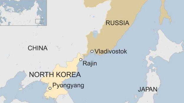 N Korea/Russia map