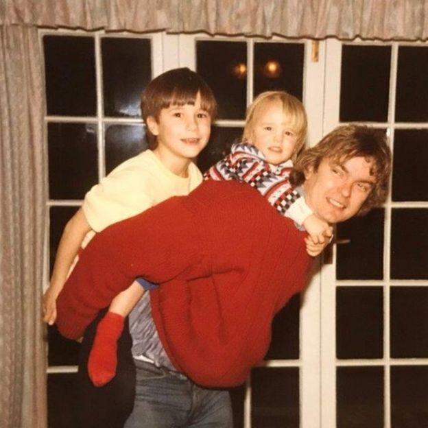 Richard com os filhos