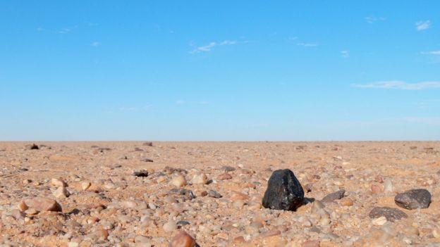 Restos do meteorito 2008 TC3