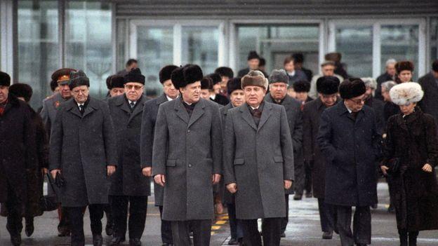Михаил Горбачев и другие руководители СССР