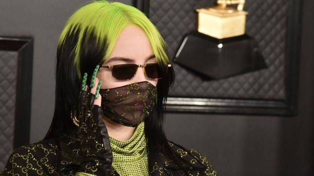 Billie Eilish at the Grammy awards