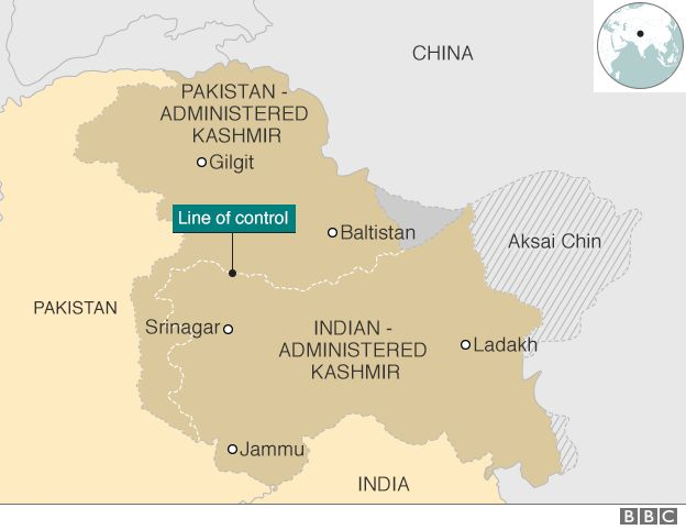 Map Of India And Pakistan Border.Kashmir Conflict Tension On The India Pakistan Border Bbc News