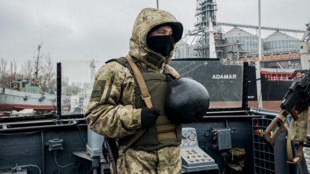 Ukraynalı bir asker.