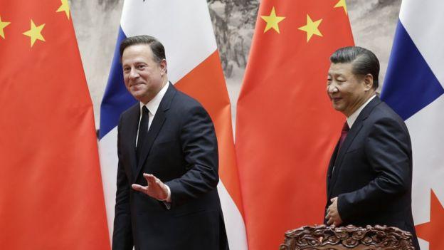 巴拿馬總統巴雷拉去年11月訪華,與中國國家主席習近平會面。
