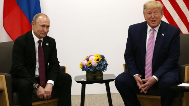 Russia President Vladimir Putin and his US counterpart Donald Trump met at the G20 Osaka Summit in June.