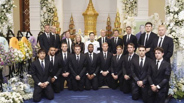 Leicester City players