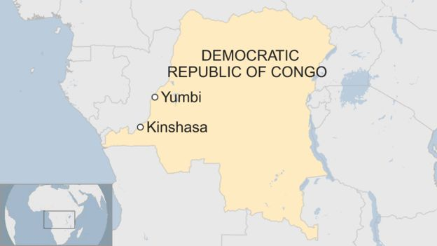 Map of Yumbi in DR Congo