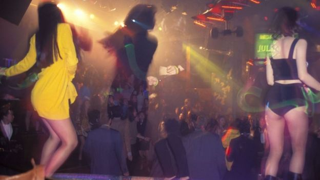 Foto genérica de una discoteca en Tokio en 1994.