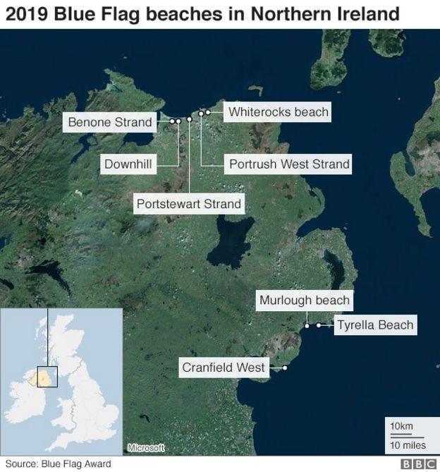 Map Of Ireland Beaches.The Beach Operators Keeping Northern Ireland Beautiful Bbc News