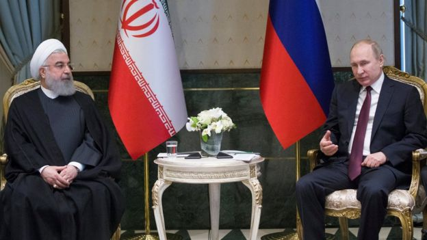 Rohani and Putin in Ankara
