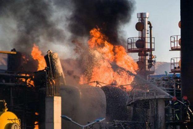 پالایشگاه نفت تهران در باقرشهر پارسال هم دچار حریق شده بود
