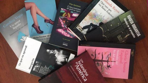 Libros de escritoras colombianas. (Foto: Carolina Vegas)