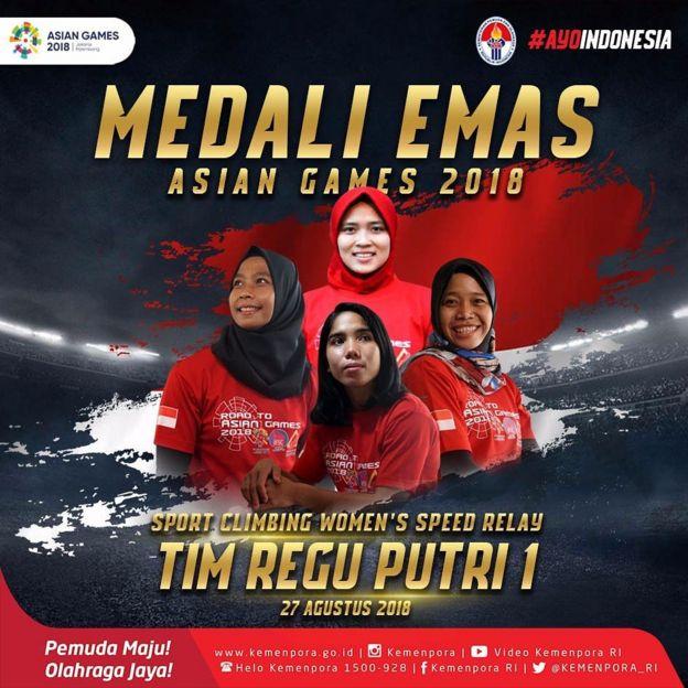 Asian Games Indonesia Raih 22 Emas Panjat Tebing Sumbang Dua Emas