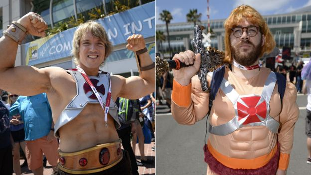 Cos-players dressed as He-Man