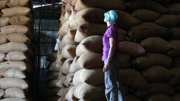 sacas de café na etiópia