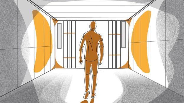 Man walking out of prison