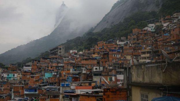 Favela en Río de Janeiro.
