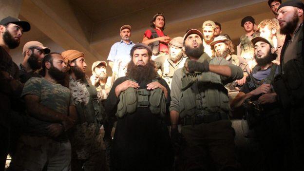Combatientes de Jabhat Fateh al Sham en el sur de Alepo.