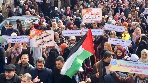 Rally in Gaza (29/01/18)