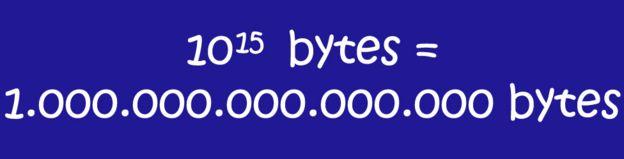 10 a la 15 bytes = 1.000.000.000.000.000 de bytes.