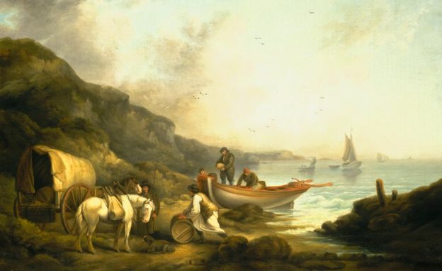 Smugglers by George Morland. Copyright: National Maritime Museum, London