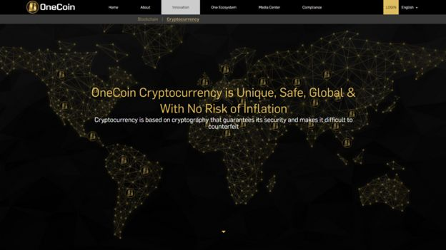 A page on the OneCoin website