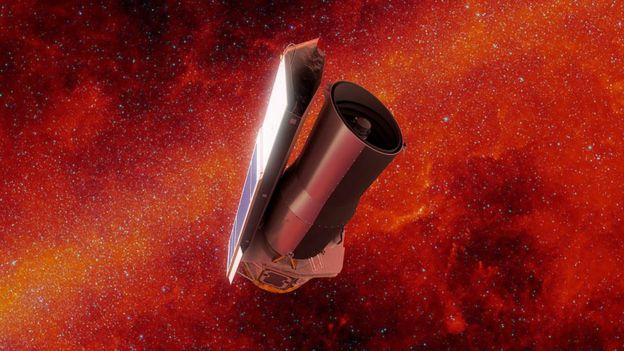 Ilustração do telescópio especial Spitzer
