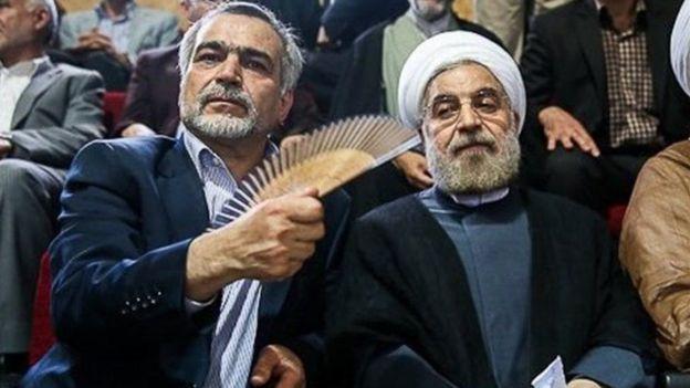 رئیسجمهوری ایران در کنار برادرش