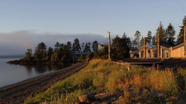 Paisaje de Skidegate, Canadá.