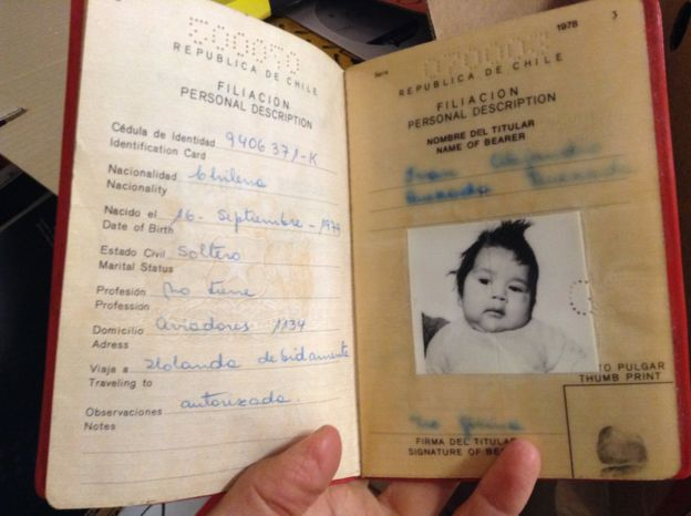 Child's passport for Alejandro Quezada