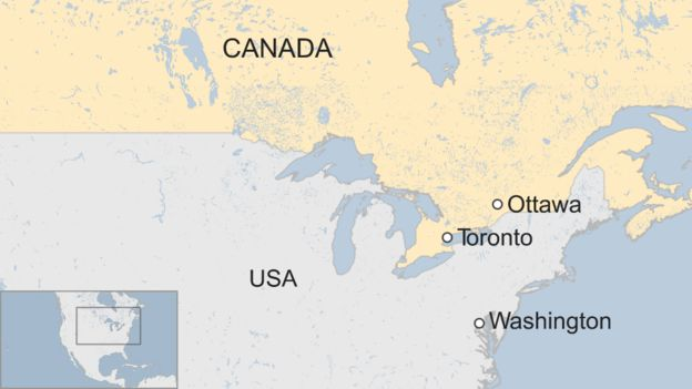map of toronto in canada