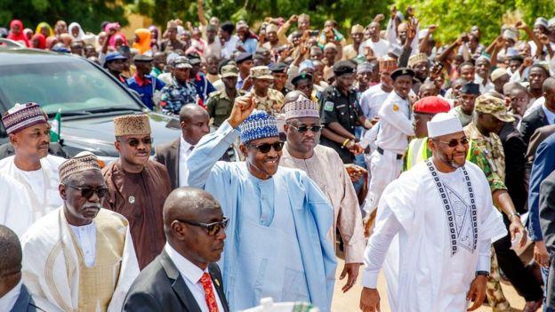 Eid Mubarak: 'Sai Baba, Sai Baba' as Presido Buhari trek
