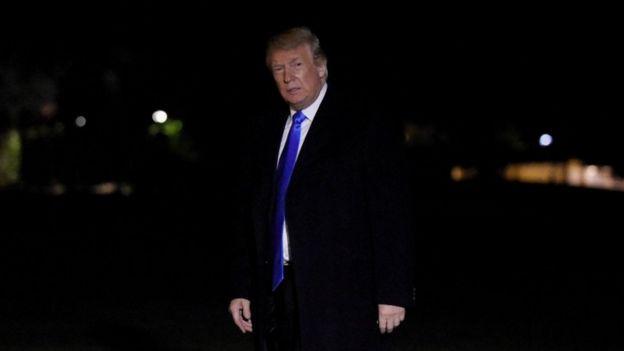 O presidente dos EUA, Donald Trump