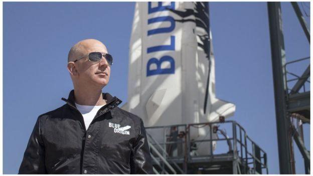 افتتح جيف بيزوس شركته الفضائية