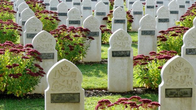 Muslim graves in French World War cemetery.