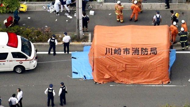 صحنه حمله در نزدیکی توکیو در ژاپن