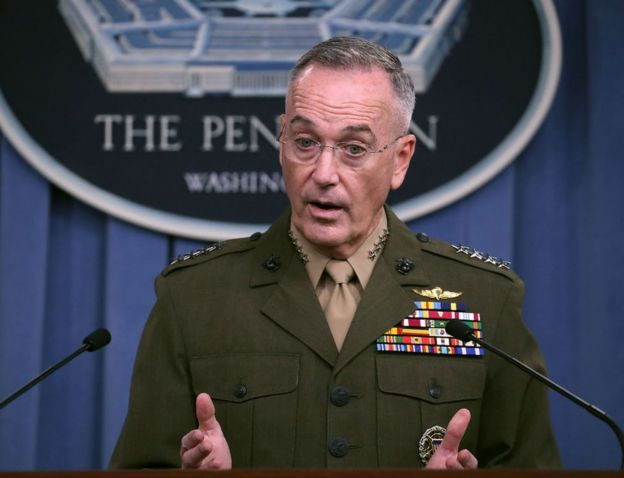 Gen Joseph Dunford briefed reporters on the Niger mission two weeks after the fatal skirmish
