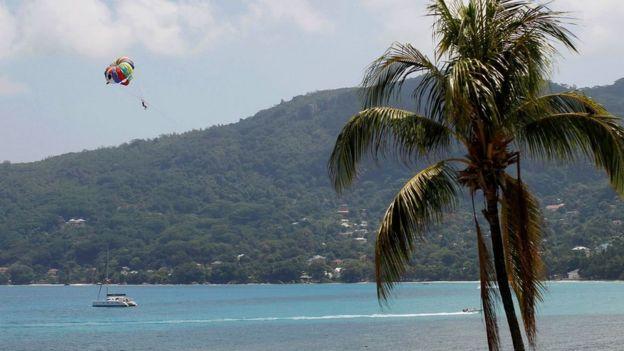 Paisaje de Seychelles.