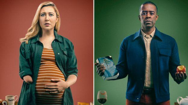 Melissa Johns as Hannah and Adrian Lester as David
