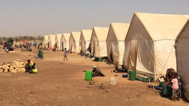 Camp for people displaced by violence in Burkina Faso