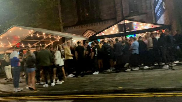 People outside the Soul Bar