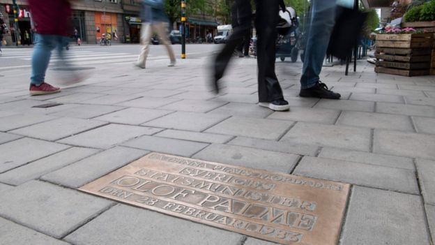 Site of Palme's murder