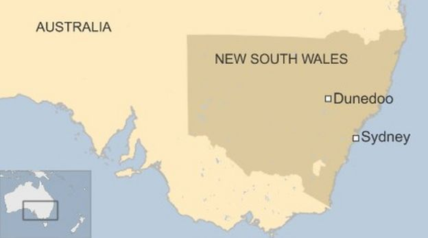 Australia bushfires Most buildings in tiny town damaged BBC News – Map of Australia with Towns