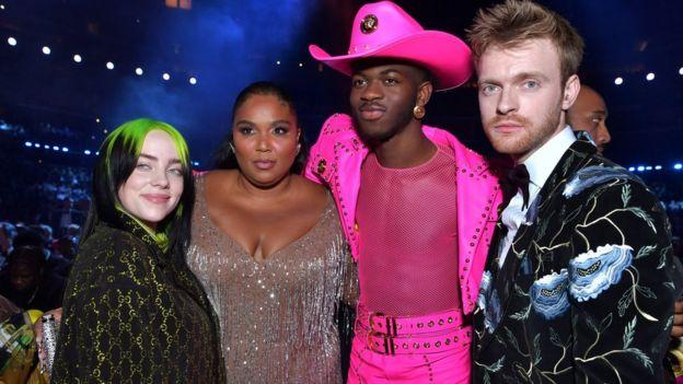 Billie Ellish, Lizzo, Lil Nas X y Finneas, todos ganadores en esta edición de los Grammy.