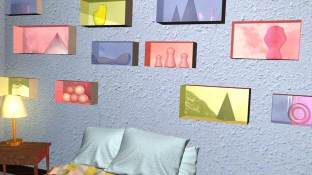 Imagen recreando el dormitorio de Gabe