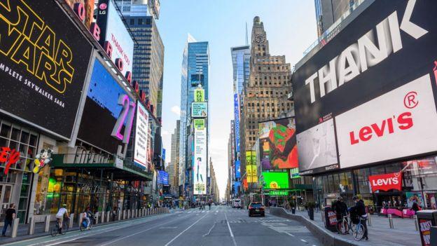 Times Square vacío