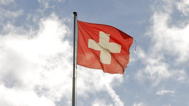 A Swiss flag
