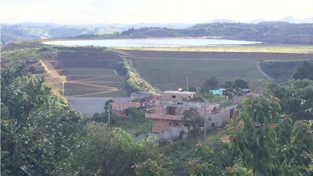Vista da barragem