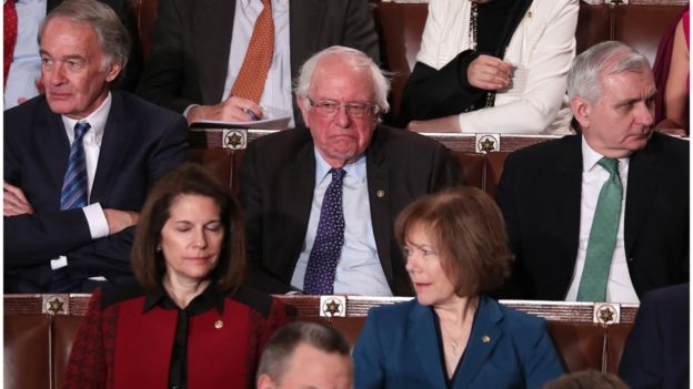 Bernie Sanders at the State of the Union address