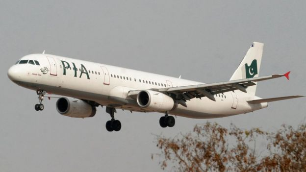 Avião da Pakistan International Airlines